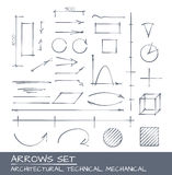 Arrows set, vector drawing Stock Image
