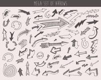Arrows Set Vector  Hand Drawn Sketched Design Royalty Free Stock Photos