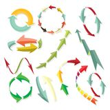 Arrows set Stock Image