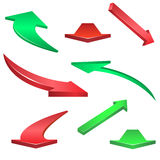 Arrows set Royalty Free Stock Photos