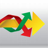 Arrows Side way in the graph Stock Image