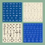 Arrows sign icon set.   Editable and design Royalty Free Stock Photos