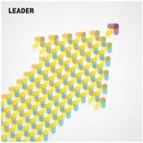 Arrows sign,leader symbol Royalty Free Stock Photos