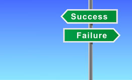 Arrows sign of success failure. Stock Images