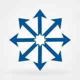Arrows sign vecctor stock illustration