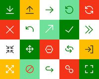 Arrows and signs. Flat Stock Photos