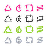 Arrows signs, icons royalty free illustration