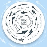 Arrows sketch Royalty Free Stock Photography