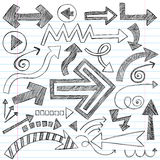 Arrows Sketchy Notebook Doodles Vector Set Royalty Free Stock Images