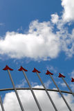 Arrows and skies. Red arrows and blue skies Royalty Free Stock Photos