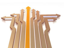 Arrows. Solutions. 3d Very beautiful three-dimensional illustration Stock Photography