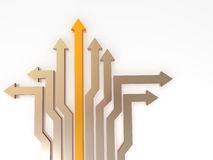 Arrows. Solutions. 3d Very beautiful three-dimensional illustration Royalty Free Stock Image