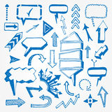 Arrows and speech bubbles set Stock Images