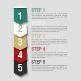 Arrows steps design template Royalty Free Stock Images
