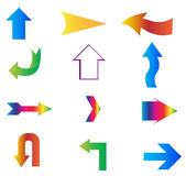 Arrows stickers vector set Stock Photo
