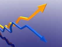 Arrows of success Stock Image