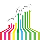 Arrows success. Design element  illustration Royalty Free Stock Photos