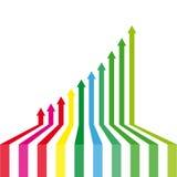 Arrows success. Design element vector illustration Stock Photo