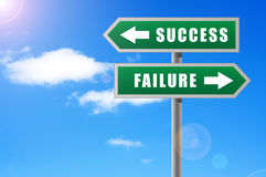 Arrows success failure. Royalty Free Stock Photo