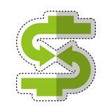 Arrows symbol money icon. Vector illustration design Stock Images