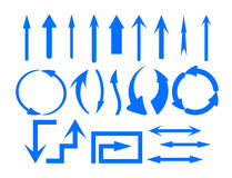 Arrows symbols set Stock Images