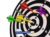 Arrows on the target Royalty Free Stock Image