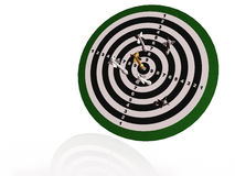 Arrows on the target Stock Photography