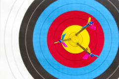 Arrows in target Royalty Free Stock Images