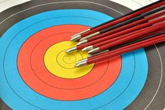 Arrows on target royalty free stock images