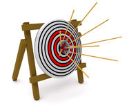 Arrows and target. Concept of success, 3d illustration Stock Image