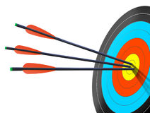 Arrows on Target Royalty Free Stock Photos