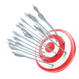 Arrows in target Stock Image