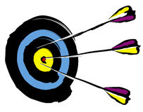 Arrows on target. Illustration Royalty Free Stock Images