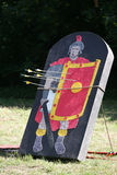 Arrows and target as a legionary on a historical fighting show Royalty Free Stock Photos