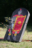 Arrows and target as a legionary on a historical fighting show Stock Images