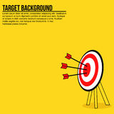 Arrows on a target board in minimalist style. With copy space Stock Images