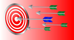 Arrows in the target Stock Image