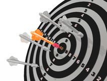 Arrows on the target Royalty Free Stock Images