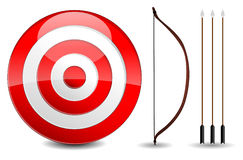 Arrows and target Stock Photos