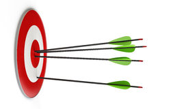 Arrows and target Stock Images