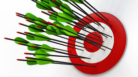 Arrows and target Stock Photography