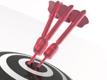 Arrows on the target Stock Images