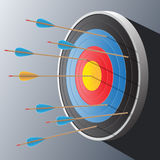 Arrows and target vector illustration. Royalty Free Stock Photo