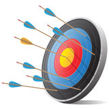 Arrows and target vector illustration. Royalty Free Stock Image
