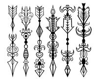 Arrows tattoo set Royalty Free Stock Image