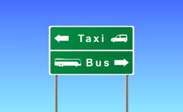 Arrows taxi bus. Royalty Free Stock Photos