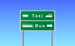 Arrows taxi bus. Royalty Free Stock Photos