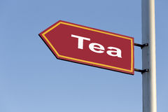 Arrows  tea on sky background. Stock Image