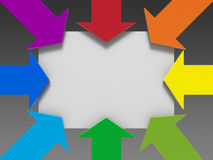 Arrows template Stock Photos