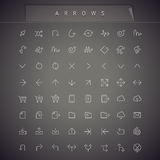 Arrows Thin Icons Set Stock Photo